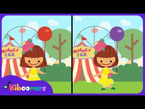 We're Going to Kentucky | Toddler Song | Spot the Differences | The Kiboomers