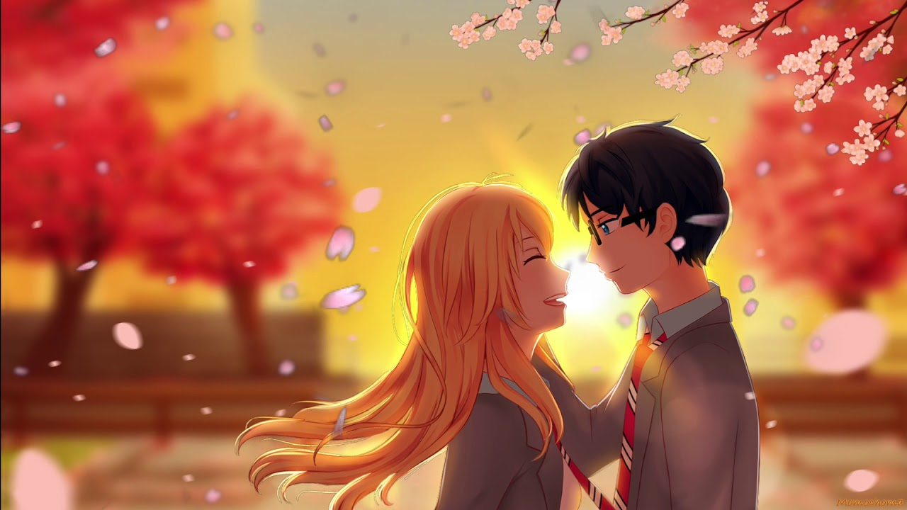Kousei And Kaori Cherry Blossom Wallpaper Your Lie In April