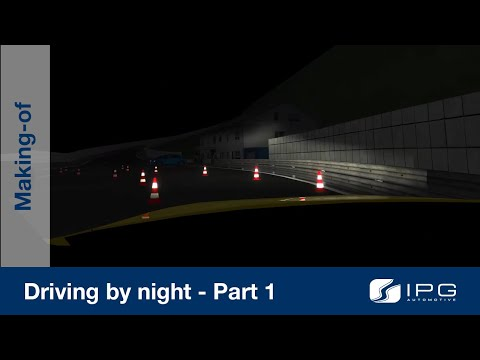 Making-of: CarMaker – Driving by night – Part 1/2