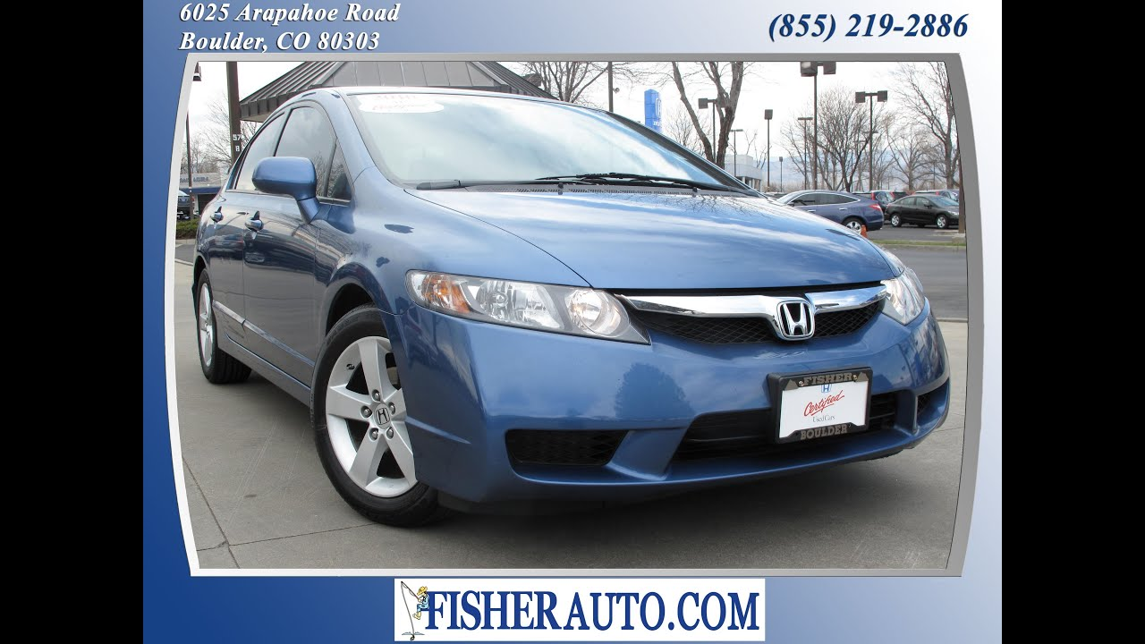Blue honda civic 2010