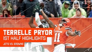 Terrelle Pryor Burns Darrelle Revis for 101 Yards in the First Half! | Jets vs. Browns | NFL