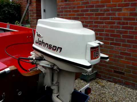 1961 Johnson 18hp Electric - YouTube