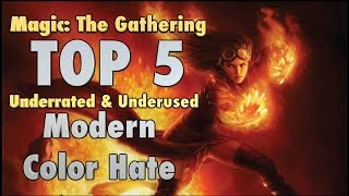 MTG - The Top 5 Underrated and Underused Modern Color Hate Sideboard Cards for Magic: The Gathering