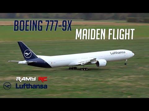 BOEING 777-9X/ RC airliner MAIDEN FLIGHT/ Lufthansa new livery