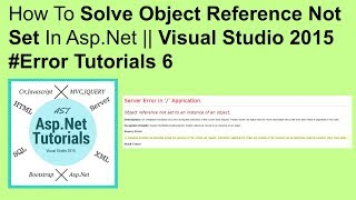 How to fix asp.net error object reference not set to an instance of an object