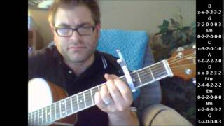 """How to play """"God Bless The USA"""" by Lee Greenwood on acoustic guitar"""