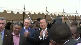UN Secretary-General and IOC President visit Fountain of Hope Centre, Lusaka, Zambia(, 2012-02-27T15:00:54.000Z)