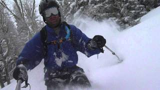 Face Shot Powder Skiing, Wasatch Mountains, Utah Thumbnail