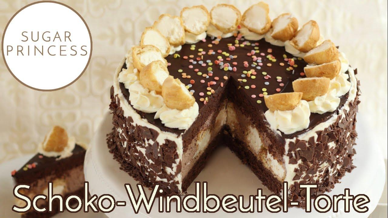 Traumhaft leckere Schoko-Windbeutel-Torte   Rezept von Sugarprincess