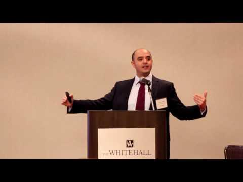 Mayar Capital's Abdulaziz Alnaim speaking in Houston at the Bilateral US-Arab Chamber of Commerce