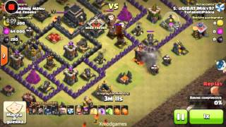 Clash of clans- Attacco in war con gohog [Th9 3 stelle]