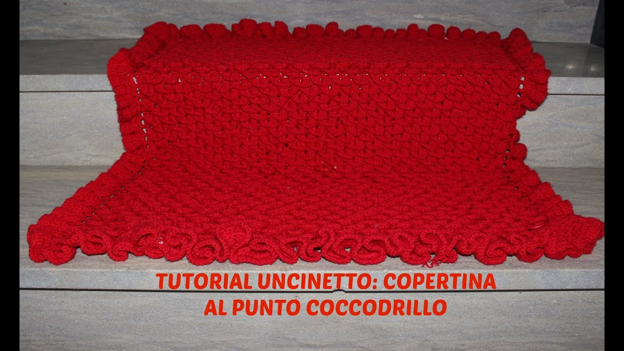 Preferenza TUTORIAL UNCINETTO: COPERTINA NEONATO AL PUNTO COCCODRILLO - YouTube YG78