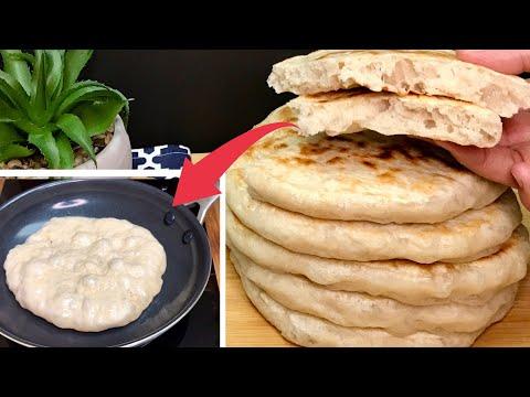 sans-pétrissage!-la-meilleure-recette-de-pain-à-la-poêle-💯-extra-moelleux-et-incroyablement-bon-😋
