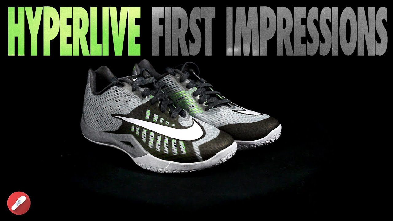 d2cd43880bbc Nike HyperLive First Impressions! - YouTube