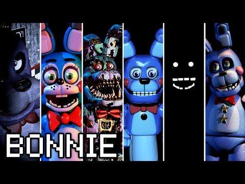Evolution of Bonnie in FNAF (2014-2018)