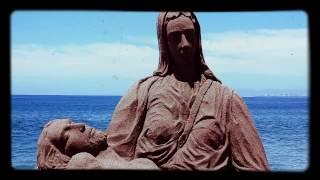Mary and Jesus sand Sculpture in Puerto Vallarta 2017