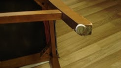 Solved: Chair Felt Pads Slide off Furniture Hack to Protect Floor DIY Pin Felt Casters that Stay On