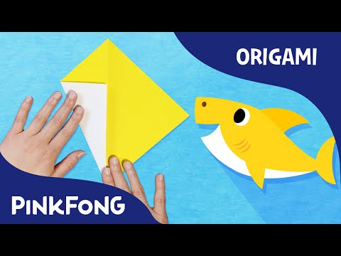 Origami Baby Shark | Let's make a baby shark | PINKFONG Origami | PINKFONG Songs for Children