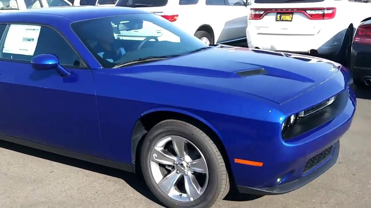 2018 Indigo Blue Dodge Challenger Driving Youtube