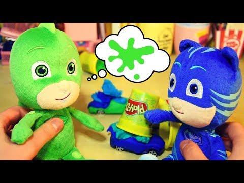Creiamo le macchinine di GECO e GATTOBOY con il Play-Doh! 🚘 [Giochi per bambini coi Pj Masks]