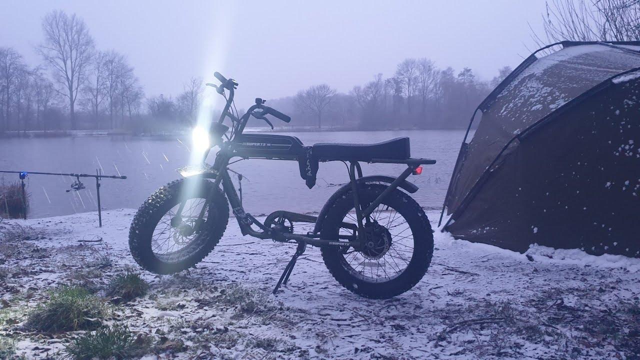 off road door sneeuw met super73