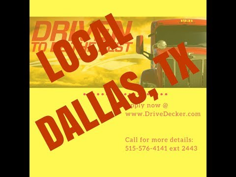 Dallas Fort Worth Texas Local Driving Positions Vans and Doubles