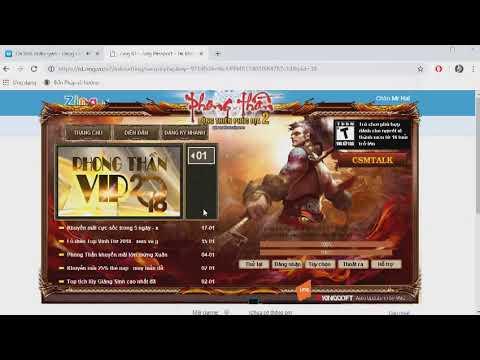 HD Đăng Kí Tài Khoản Zing & Tạo Nhân Vật Mới Game Phong Thần