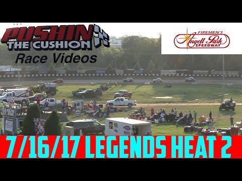 Angell Park Speedway - 7/16/17 - Legends - Heat 2
