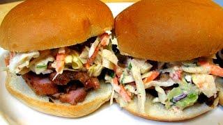 Pork Tenderloin Sliders With Apple Chipotle Cole Slaw