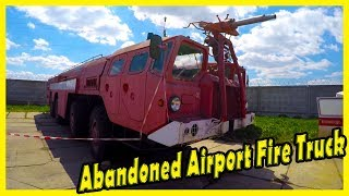 Abandoned Airport Fire Truck. History of MAZ 7310 AA-60 Airport Crash Tender Vehicle