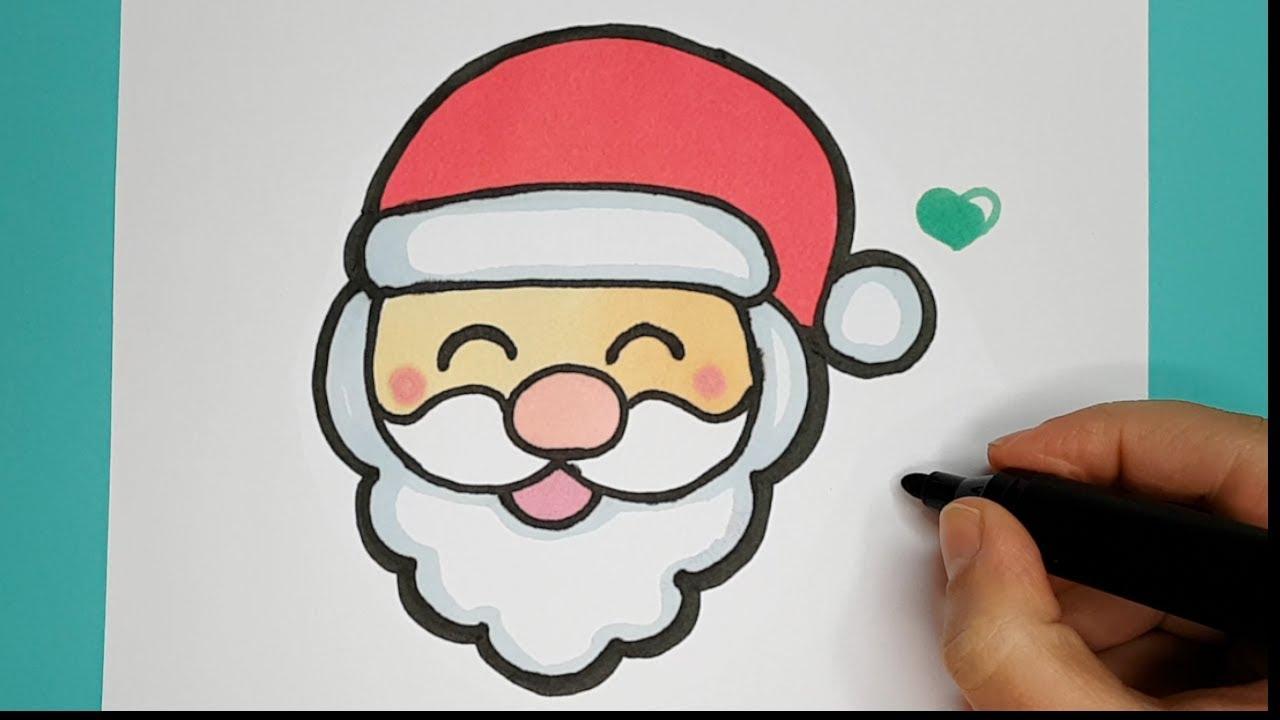 How to Draw Cute Laughing Santa EMOJI step by step ...