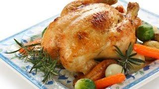 Курица с овощами печеная в духовке.