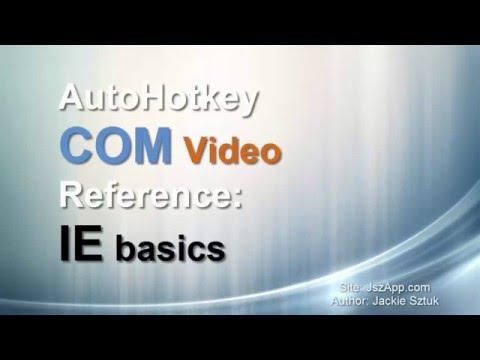 Basic IE Code Example Autohotkey