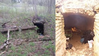 Crematory camping Haunted foŗest cooking food and talking with spirits