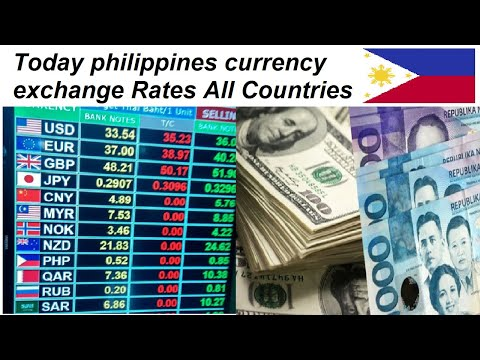 Today Philippines Currency Exchange Rates All Countries L Dollar To Php L Usd To Gbp