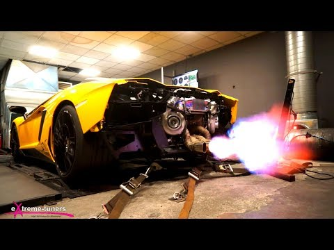 Lamborghini aventador dyno 1rst runs