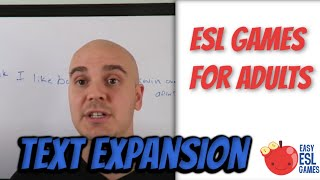 Text Expansion (a whiteboard game) - Easy ESL Games