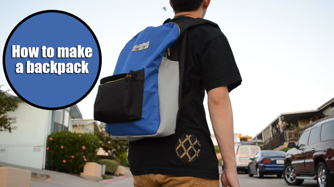 DIY: Jansport-Inspired Backpack Tutorial | From Scratch #23 - YouTube