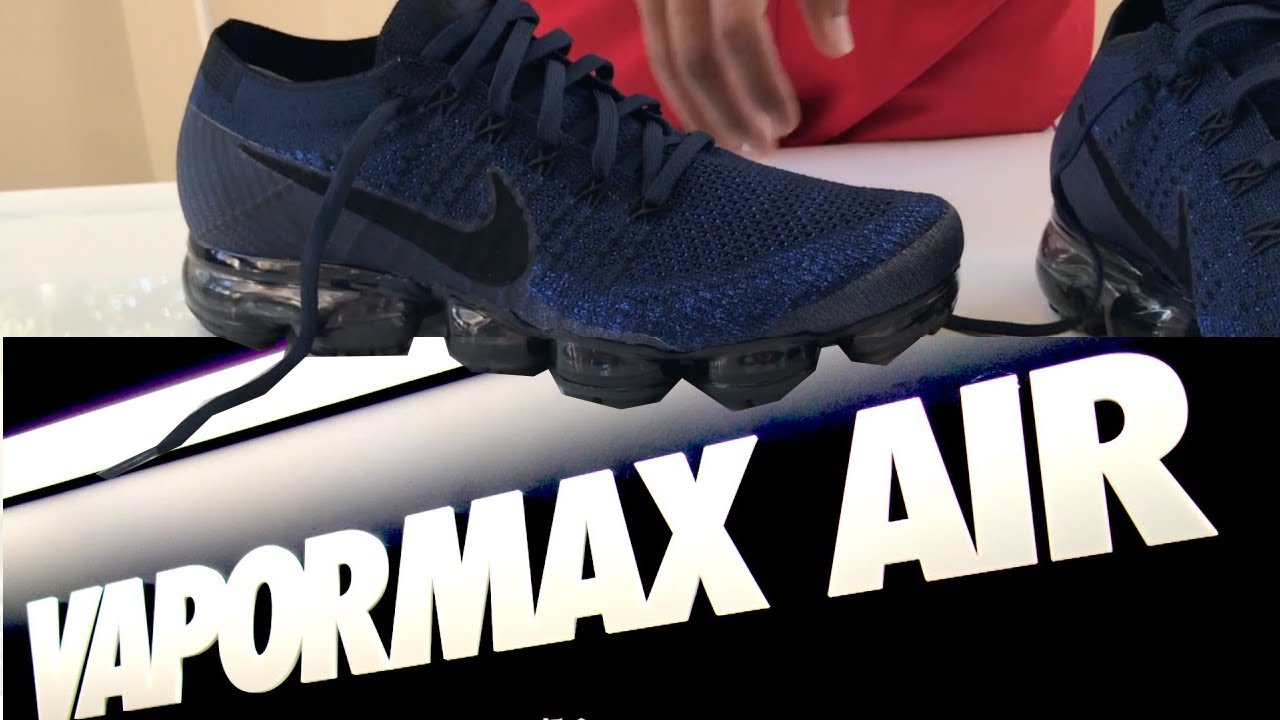 Nike Vapormax Navy On Feet