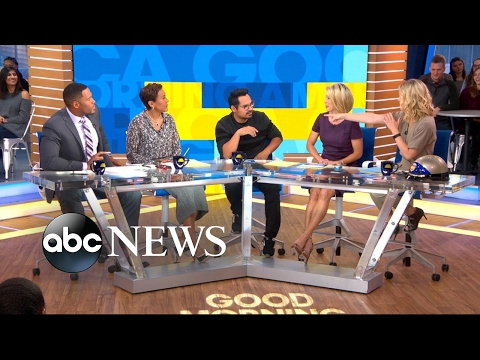 Michael Pena plays 'Tune the Beat Around' game with the 'GMA' anchors