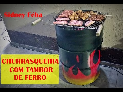 CHURRASQUEIRA COM TAMBOR