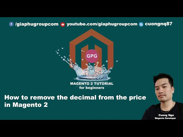 How to remove the decimal from the price in Magento 2