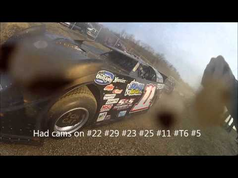The back stage of Speedway Car Cams at Boyds Speedway for the Cabin Fever Race