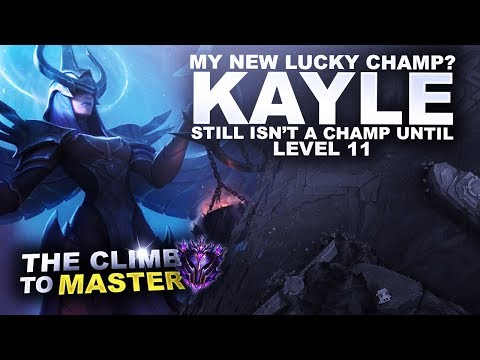 MY NEW LUCKY CHAMP? KAYLE! - Climb to Master S9 | League of Legends thumbnail
