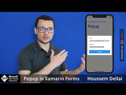 Popup in Xamarin Forms