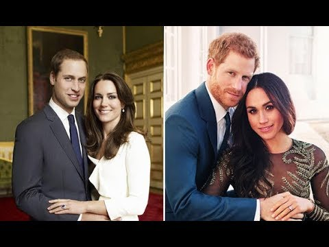 The difference between Meghan Markle and Kate Middleton engagement photos