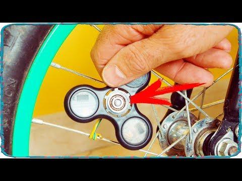 Самоделки из спиннера для велосипеда своими руками. DIY bike life hacks with spinner.