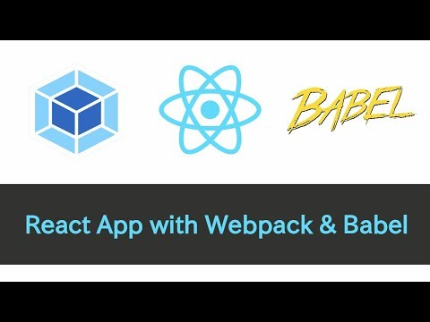React App with Webpack & Babel (ES6+, source maps, hot reload, and