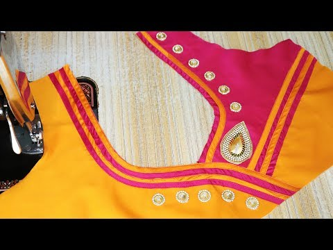 Easy model patch work blouse designs cutting and stitching 2018
