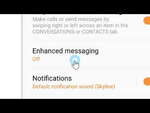 How to Disable Enhanced Messaging for Samsung users
